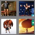 4 pics 1 word 9 letters strongman